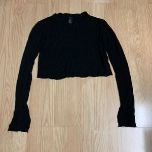 Forever 21 black thin crop top